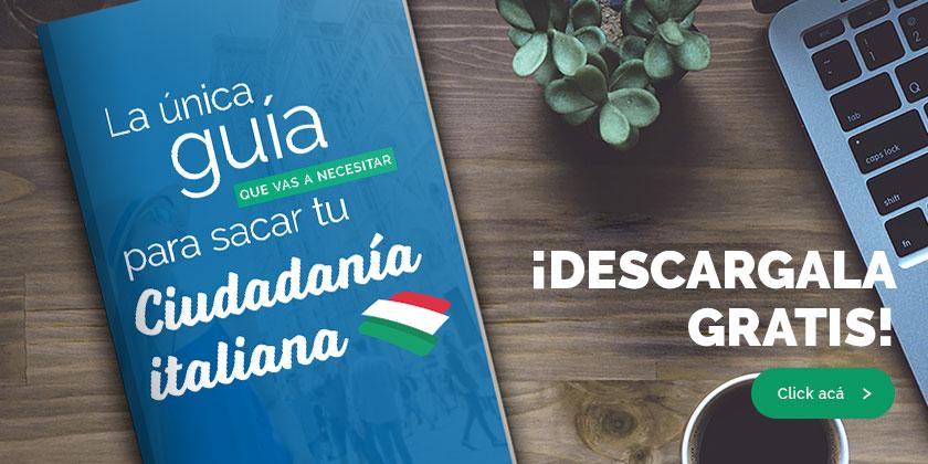 guía para sacar ciudadanía italiana